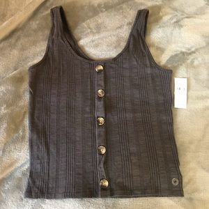NWT American Eagle button tank - Dark Gray